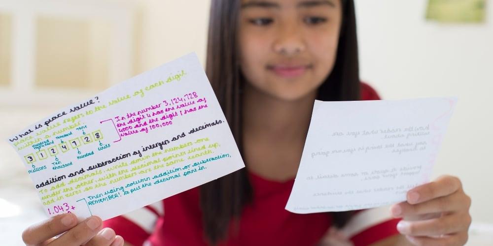 Study card girl