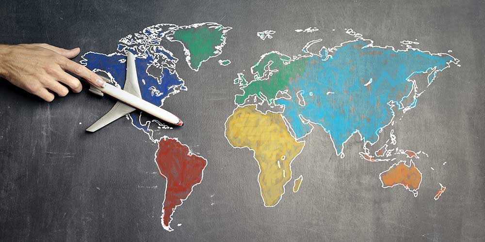 une langue etrangere en voyage