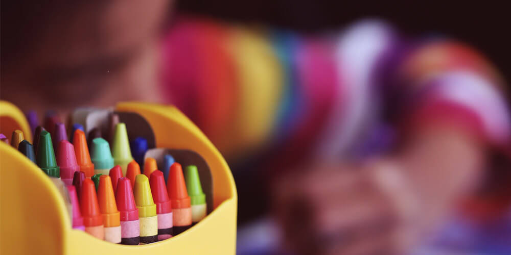 crayons for montessori education