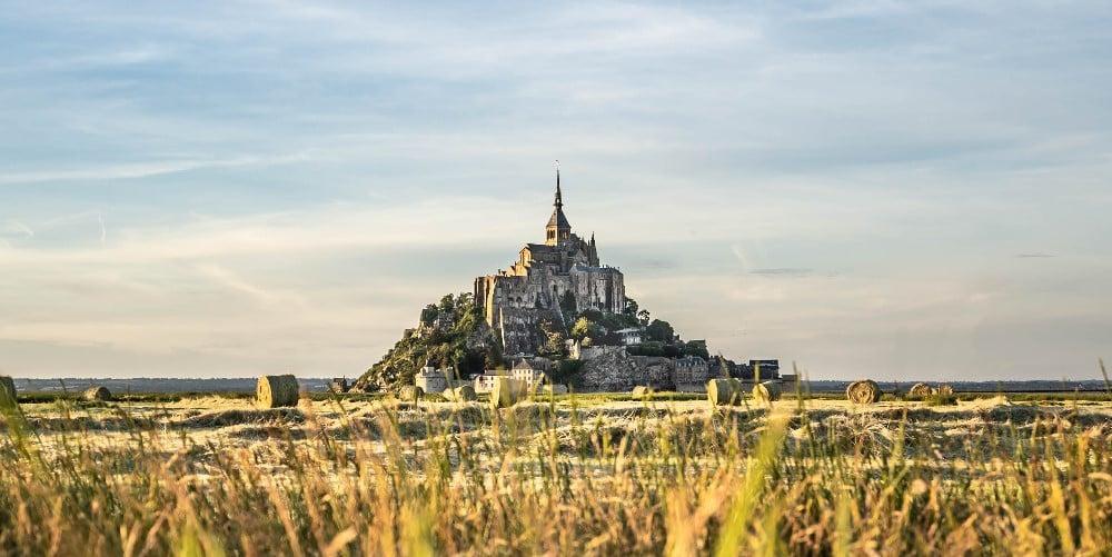 Mont Saint-Michel coucher de soleil